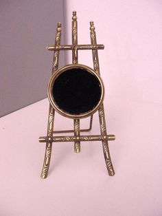 antique brass watch stand, end 19th c