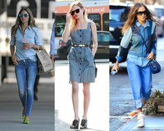 Os melhores looks all jeans das celebridades - Moda it