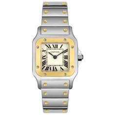 Women's Wrist Watches - Cartier Womens W20012C4 Santos 18K Gold and Stainless Steel Watch *** Continue to the product at the image link. (This is an Amazon affiliate link)