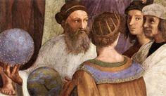 Raffaello Sanzio - Scuola di Atene (particolare) - L'uomo che tiene la sfera si ritiene cheraffiguri Zoroastro