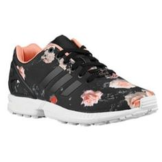 adidas Originals ZX Flux - Womens - Black/Black/Semi Flash Orange ADIDAS Women's Shoes - http://amzn.to/2ifvgZE