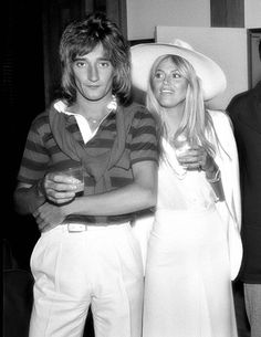 Rod Stewart and Britt Ekland (I know it's from the Seventies but I just love this picture!)