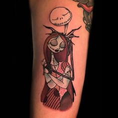 "Digging this #jack and #sally #tattoo by the awesome @kevinfurnesstattoo who we are so happy to have as a part of our 'Feathers of Inspiration,"" ""Meows and Roars of Inspiration,"" and ""Pandaemonium"" books! Make sure you check out Kevin's fantastic portfolio...and you can find all of the aforementioned books on our site at www.OOSBooks.com"