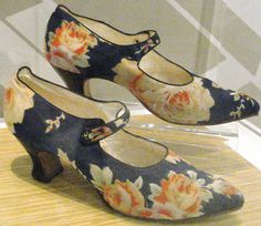 Pretty Floral Shoes   c.1920's