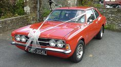 Ford Cortina GT Wedding Car available for hire in Devon, cornwall and Somerset