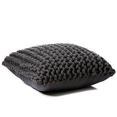 Chunky Knit Coal Floor Cushion