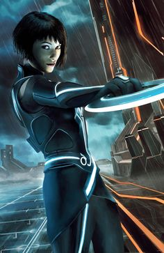 Tron Legacy Quorra Painting by JustMarDesign
