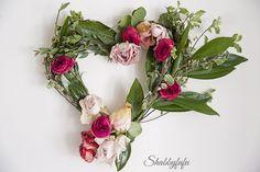 DIY- Valentines Day Floral Heart Wreath
