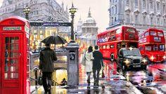 Richard MacNeil Christmas Canvas | Learn English: a Visit to London !