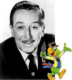 Walt Disney and his creation, Zé Carioca