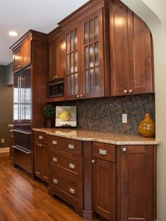 Gray & Brown Traditional Kitchen Backsplash : Designers' Portfolio : HGTV - Home & Garden Television