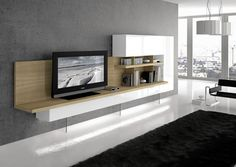 Mueble moderno roble blanco