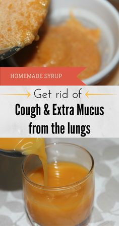 Homemade Syrup. Get Rid Of Cough And Extra Mucus From The Lungs