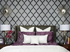 Purple, violet, wine or plum Bedroom Design Décor Ideas   Grey ...
