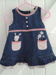 BABY BLUES 'Cute pink' Dress £7.50 See https://folksy.com/shops/sldelaney