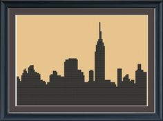 New York City silhouette --- cross-stitch pattern