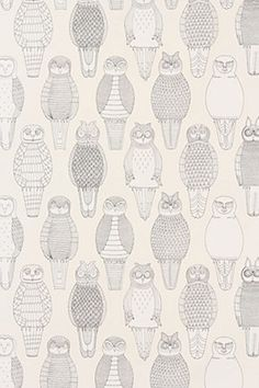 Owls Of The British Isles Wallpaper | Anthropologie.eu