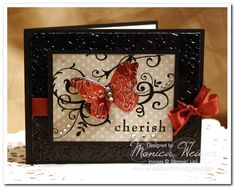 Baroque Motifs Metal Embossed Butterfly Card by ratona27 - Cards and Paper Crafts at Splitcoaststampers