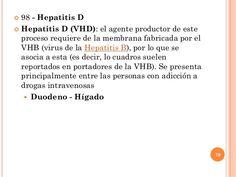  98 - Hepatitis D  Hepatitis D (VHD): el agente productor de este proceso requiere de la membrana fabricada por el VHB (...