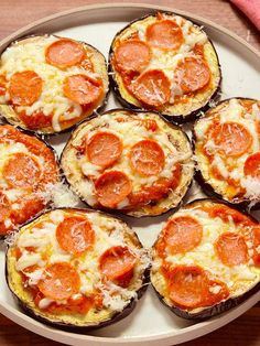 Mini pizzas de berenjena