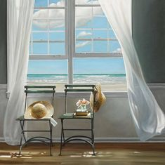 Shop for Slow Motion by Karen Hollingsworth Gallery-Wrapped Canvas Giclee Art. Get free delivery On EVERYTHING* Overstock - Your Online Art Gallery Store! Nautical Home, Window View, Windows, Coastal Style, Stretched Canvas Prints, Painting Prints, Art Prints, Paintings, Wrapped Canvas