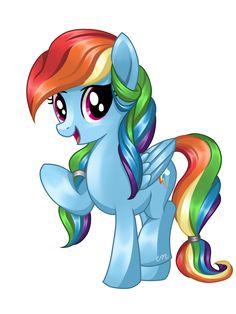 Rainbow Dash (Different Mane) by Sunshineshiny on DeviantArt