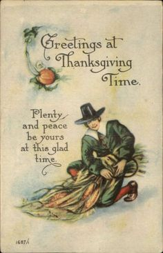 Reproduction postcard from a vintage Thanksgiving postcard. Circa: All products are professionally printed in the USA Thanksgiving Blessings, Thanksgiving Greetings, Vintage Thanksgiving, Vintage Holiday, Thanksgiving Prints, Thanksgiving Holiday, Family Holiday, Vintage Halloween, Christmas