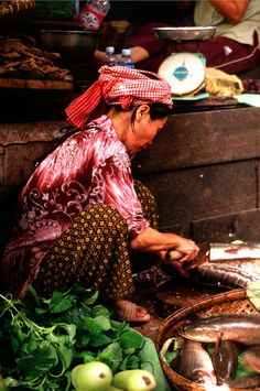 Phnom Pehn fish lady