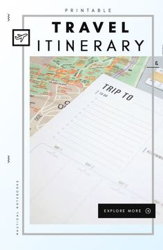 For Anywhere You Want To Gostart With This Printable Travel Itinerary