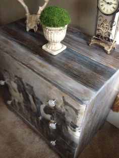 how to use an image tranfer to update an old chest, how to, painted furniture