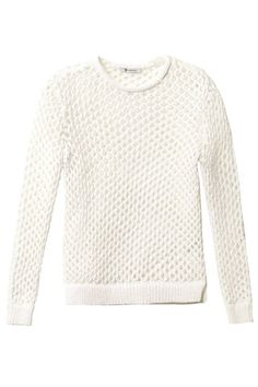 The 20 Best Summer Sweaters - Elle T by Alexander Wang Open-Knit Sweater, $425; matchesfashion.com
