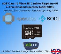 8gb class 10 #micro sd card for #raspberry pi 2 / 3 #preinstalled openelec kodi,  View more on the LINK: 	http://www.zeppy.io/product/gb/2/122103696076/