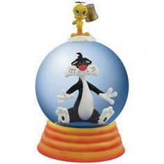 #WG13959 Looney Tunes Sylvester and Tweety Seeing Stars Water Globe by sensationaltreasures
