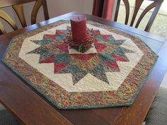 Handmade Christmas Quilted Table Topper by RatherBeeQuilting