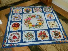 To Everything There is a Season by Kerry at Simple Bird Studio. Beautiful hand appliqued quilts