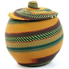 Zulu weavers from Africa have taken the intricate designs & incredible craftmanship of their natural fibre baskets & turned them into brightly colored art!