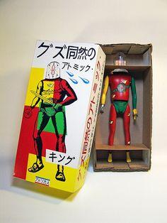 Atomic King of Nothing 01 by Randy Regier Vintage Robots, Vintage Toys, Vinyl Toys, Vinyl Art, Weird Toys, Japanese Toys, Japanese Sword, Toy Packaging, Modern Toys