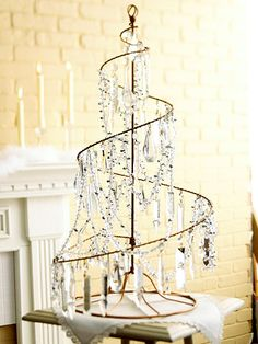 I like this idea for displaying Christmas cards as well. Maybe with some cute Christmasy clothes pins?