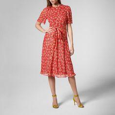 Eve Cranberry Silk Dress | Clothing | L.K.Bennett