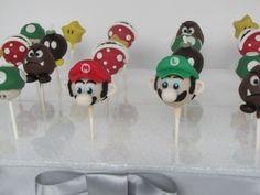 Super Mario Brothers Cake Pops