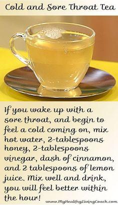 Cold and sore throat tea flu remedies, sore throat remedies, herbal remedies, arthritis Cough Remedies, Herbal Remedies, Arthritis Remedies, Natural Health Remedies, Natural Cures, Health And Nutrition, Health And Wellness, Health Yoga, Health Tips