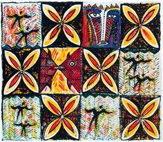 Matu Atua by Fatu Feu'u. Wall Art print from The Little Art Gallery, Tairua, Coromandel, NZ Tapas, New Zealand Art, Nz Art, Collaborative Art, Printmaking, Wall Art Prints, Original Artwork, Art Gallery, Painting