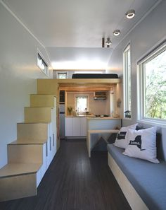 Tricked-out tiny home even includes a gear room - Curbed  Very spacious