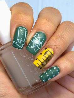 Back to School Nails Featuring MoYou London Scholar Collection Nail Art Stamping Plate 01