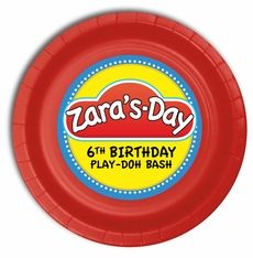 Twin Birthday Parties, Birthday Yard Signs, Birthday Party Themes, 5th Birthday, Play Doh Party, Party Plates, Cake Plates, Party Planning Checklist, Party