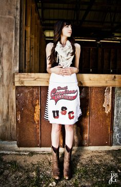 South Carolina Game Cock Skirt by putyourgameon on Etsy, $55.00  This would look even better with our South Carolina Gameday Boots!