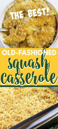 Southern Squash Casserole is a favorite at every potluck gathering. With grated Cheddar cheese, crumbled Ritz crackers, and fresh summer squash, this squash casserole is a great way to use those summer vegetables! Southern Squash Casserole, Summer Squash Casserole, Recipe For Squash Casserole, Squash Recipe, Southern Comfort, Veggie Dishes, Food Dishes, Side Dishes, Squash Caserole