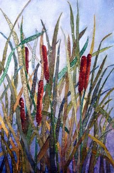 CATTAIL EXPLOSION  Original Watercolor Painting by missycowan, $150.00
