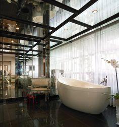 The g Hotel Galway - Linda Evangelista Suite (Penthouse) Bathroom 5 Star Spa, Hotel Breaks, City Break, Hotel Spa, Linda Evangelista, Interior Design, Luxury, Bathrooms, Nest Design