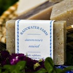 summer mint soap--my new favorite from my mom's company
